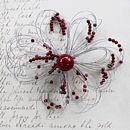 contemporary flower brooch red