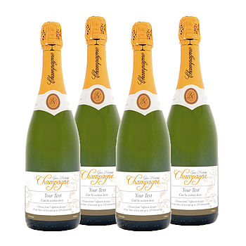 Personalised Champagne Four Bottles Of Brut