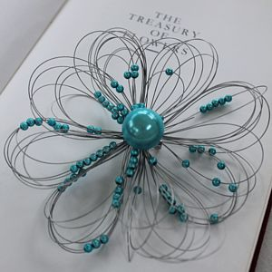 Flower Brooch - flower girl jewellery