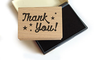 'Thank You' Rubber Stamp