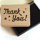 'Thank You' Rubber Stamp And Ink
