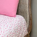 Horse Pink Single And Cot Bed Duvet Set