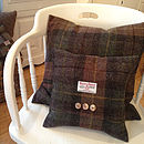 Thumb autumn bracken harris tweed cushion