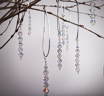 Five Handmade Crystals Christmas Decorations