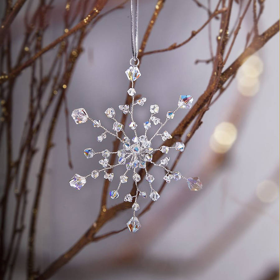 Handmade snowflake christmas decoration by rosie willett for Handmade things for decoration