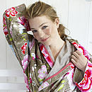 PiP Studio Birds of paradise Bathrobe khaki