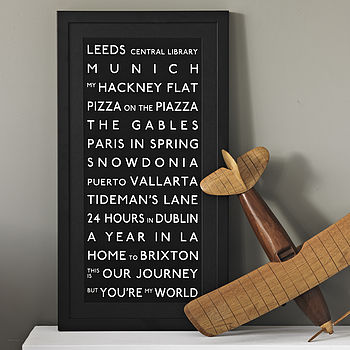 Bespoke Destination Bus Blind Print