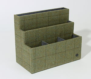 Tweed Desk Tidy - best stationery gifts
