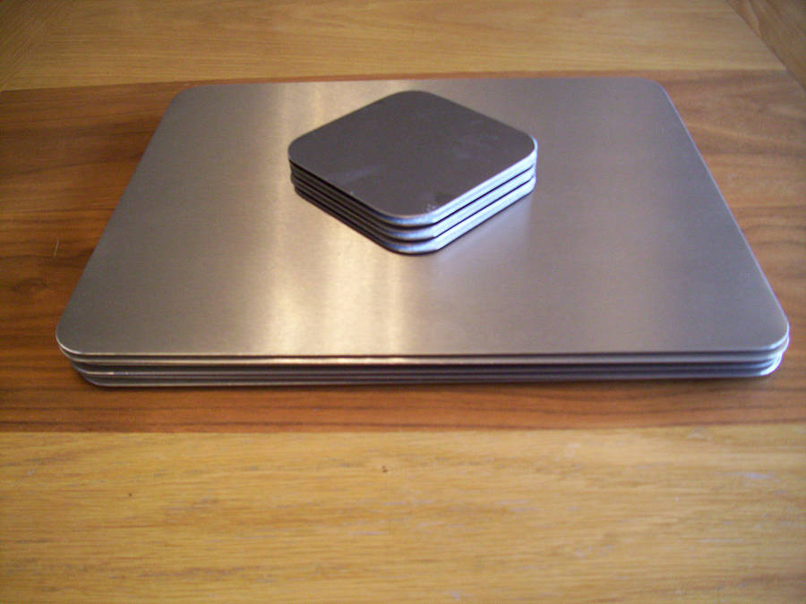Stainless Steel Placemats And Coasters By The Metal House