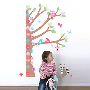 Forest Height Chart Wall Sticker - children's room