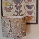 Paris Map Fabric Lampshade