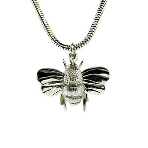 Sterling Silver Or Gold Bumble Bee Charm - more
