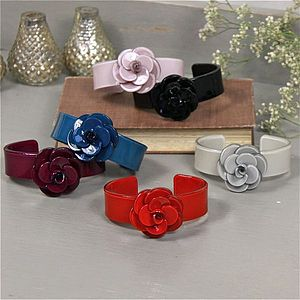 Slim Rose Cuff In Various Colours - bracelets & bangles