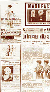 Vintage French News Paper Print Wallpaper