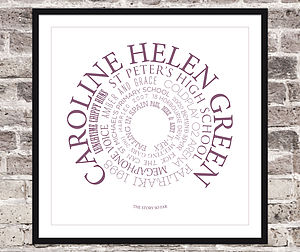 Personalised Life Story Print - posters & prints