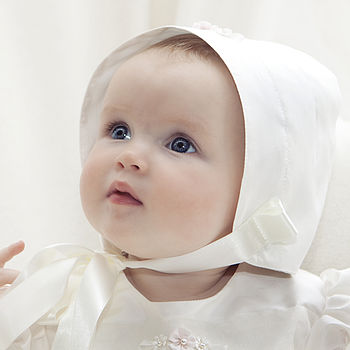 Aurora Silk Christening Bonnet
