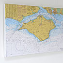 Nautical Charts On Canvas Isle Of Wight 30x40'