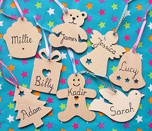 Personalised Wooden Tag - keepsakes