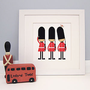 Three Little Soldiers Print - children's room