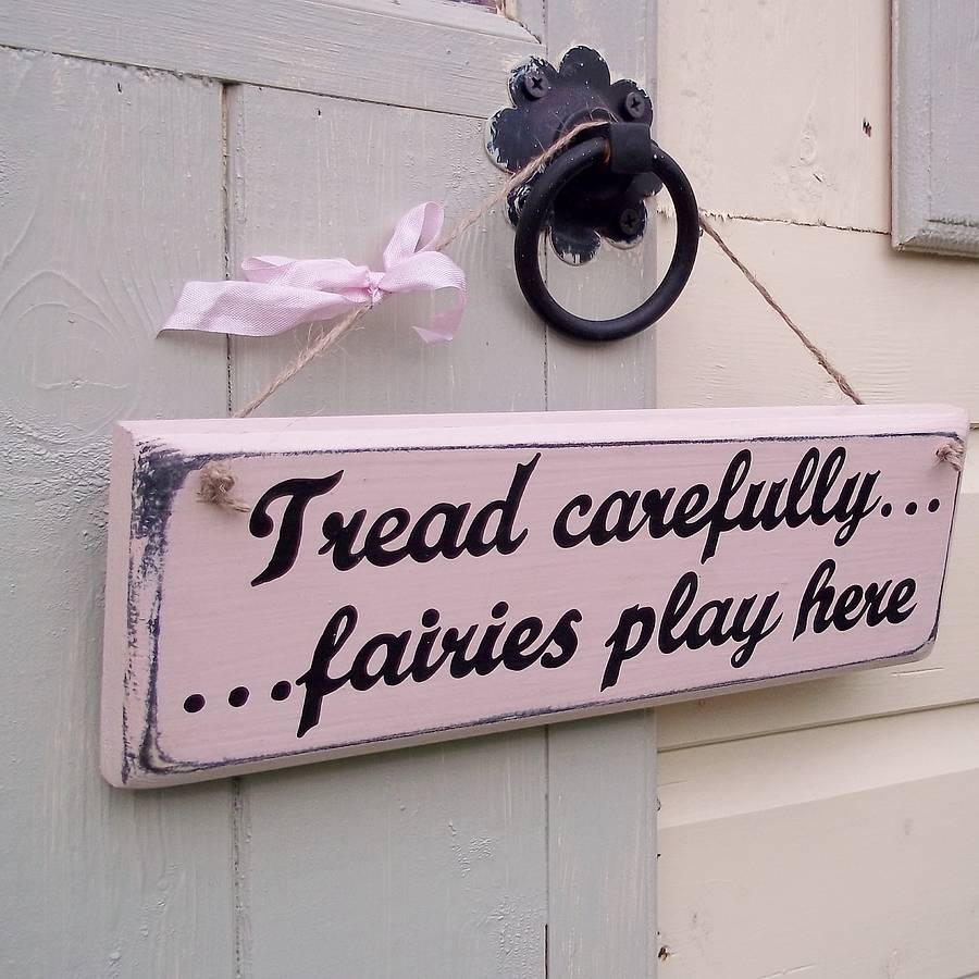 Personalised Wood Fairy Sign By Potting Shed Designs