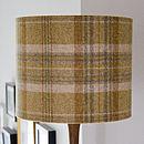 Handmade Plaid Wool Lampshade