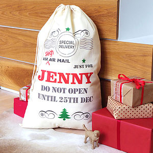 Personalised Christmas Sack - top 100 decorations