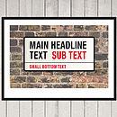 Personalised London Street Sign Print