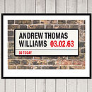 Personalised London Street Sign Print