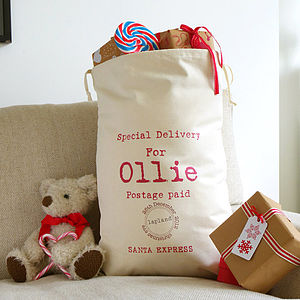 Christmas Personalised Sack - stockings & sacks