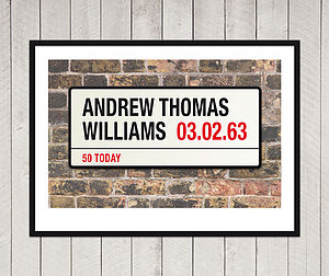 Personalised Birthday London Street Sign