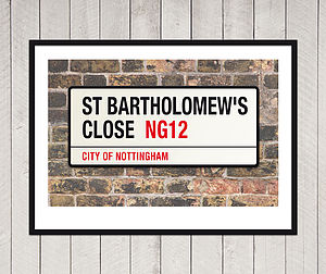 Personalised New Home London Street Sign