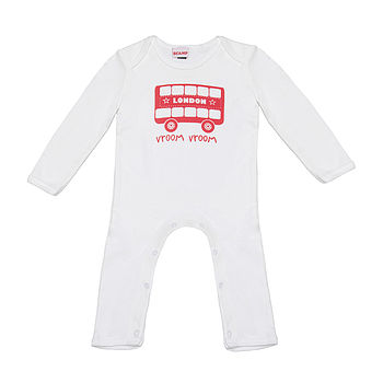 London Bus Romper Suit