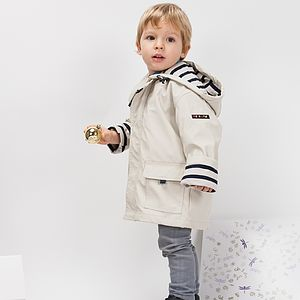 Child's Cream Raincoat - nautical-clothing
