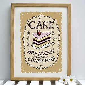 Cake Print - prints for christmas