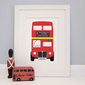 Personalised London Bus Print