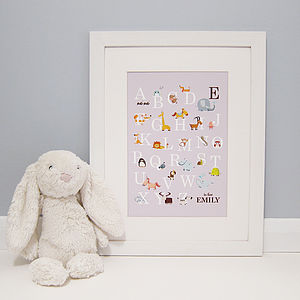 Personalised Animal Alphabet Print