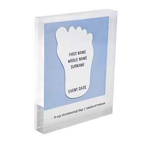 Personalised Christening Acrylic Block - christening gifts