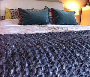 Danish Style Hygge Throw In Charcoal - bedspreads & quilts