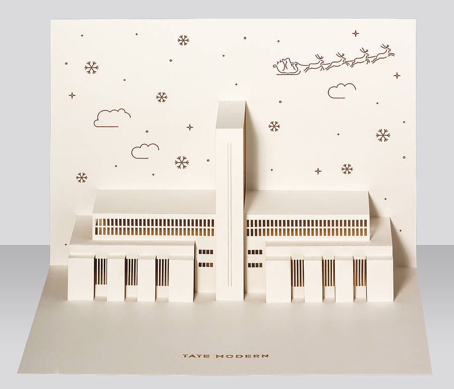 Tate modern pop up christmas card by paper tango tate modern pop up christmas card brown m4hsunfo