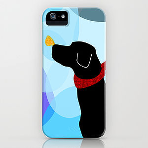 Black Labrador Dog On Phone Case - phone covers & cases