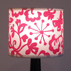 Butterfly Drum Lampshade - dining room
