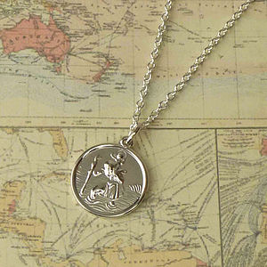 St Christopher Medal Necklace - men's jewellery