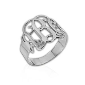 Personalised Sterling Silver Monogram Ring