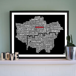 Personalised London Football Print - shop by subject