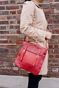 Hutton Mills Leather Satchel Bag - bags & purses