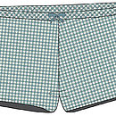 AT home with Marieke gingham shorts blue