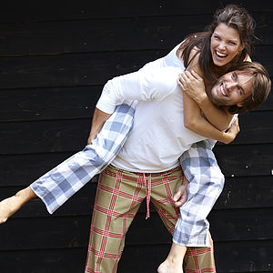 Gingham Pyjama Trousers By AHWM - lingerie & nightwear