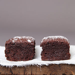 Eight Award Winning Gluten Free Chocolate Brownies - food gifts