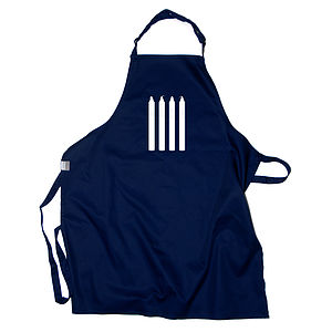 Four Candles Apron - kitchen linen