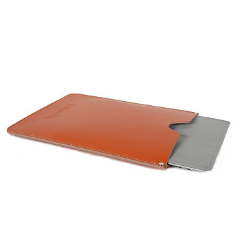 Handmade leather iPad Cover - Orange